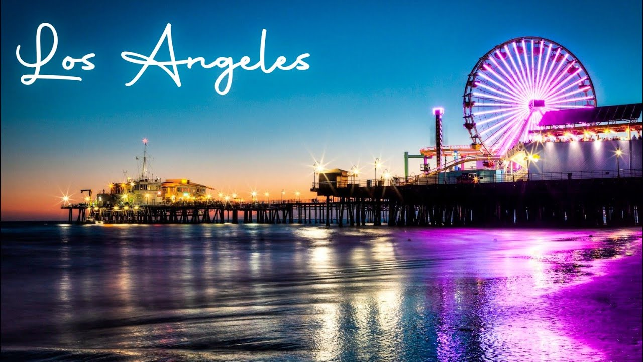 Downtown Los Angeles Beautiful Night View - Travel Video Cinematic & Travel Guide By Naim's Vlog